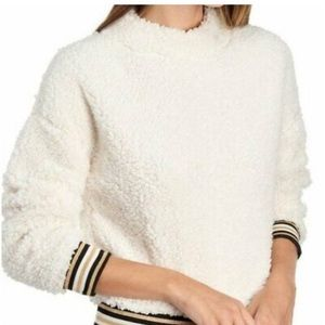 NWT Nanette Lepore supersoft snow colored sweater